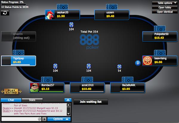 игровой стол 888 покер